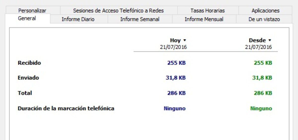 medir uso de datos consumidos con tu conexion a internet